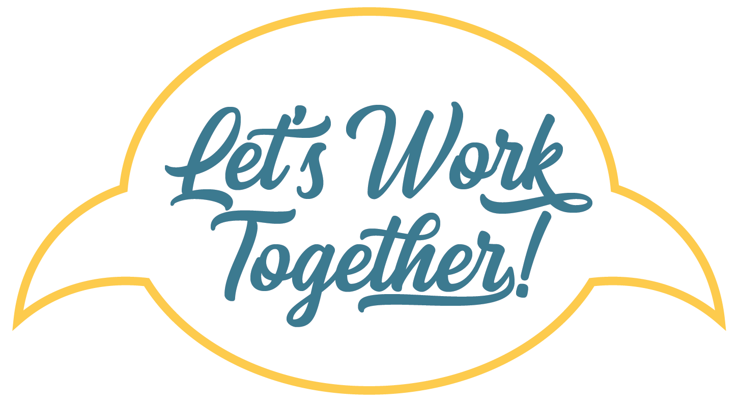 Let's work together speech bubble
